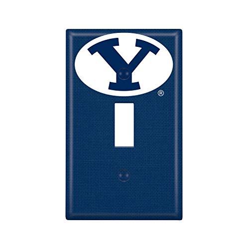 (Keyscaper NCAA BYU Cougars Unisex Lightswitch PlateLightswitch Plate, White, One Size)