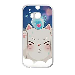 Cute naughty cat Overhead water bottle personalized creative custom protective phone case for HTC M8