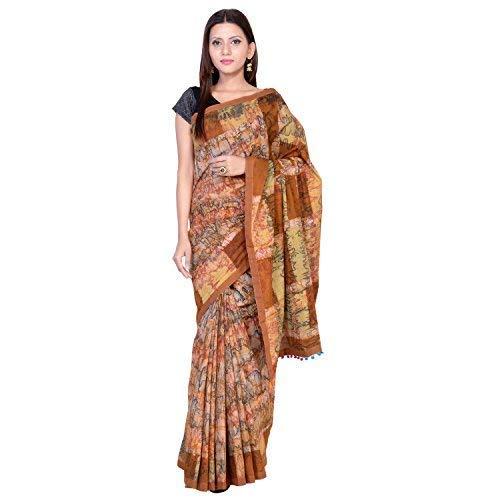 (Craftsvilla Silk Saree with Blouse Piece (Kairy Jacd_Purple_Free Size))