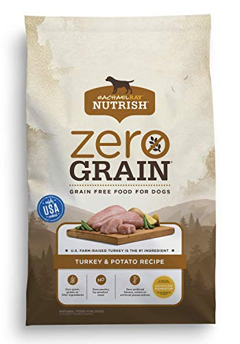 Rachael Ray Nutrish Zero Grain Natural Dry Dog Food, Grain Free, Turkey & Potato, 28 lbs