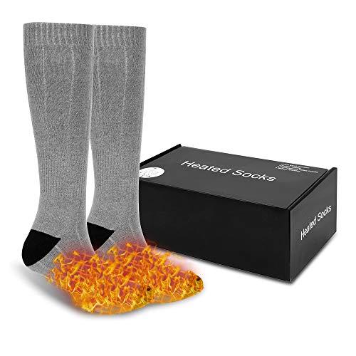 TTAototech Verwarmde sokken – 3 verwarmingsinstellingen Oplaadbare elektrische verwarmde sokken, 3.7v 4500mah batterij…