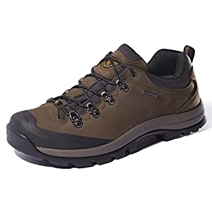 CAMEL CROWN Womens Nubuck Leather Hiking Shoes Waterproof Slip-Resistant Outdoor Trail Trekking Shoes Women