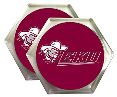 Eastern Kentucky Colonels Plastic Beverage Coaster 2-Pack