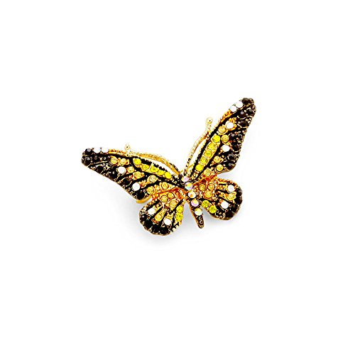 Small Butterfly Pin (Small Monarch Butterfly Crystal Pin)