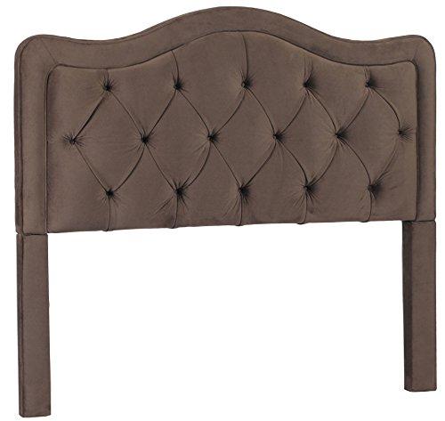 Allure Headboard - Leffler Home 11000-09-13-01 Night Party Chocolate Allure Button Tufted Headboard, Queen, Dark Brown
