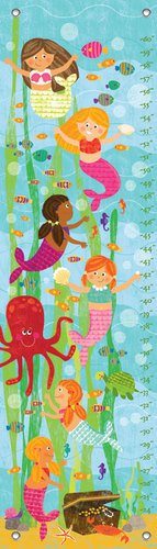 Oopsy Daisy Growth Chart, Mermaid Mingle and Play, 12'' x 42'' by Oopsy Daisy