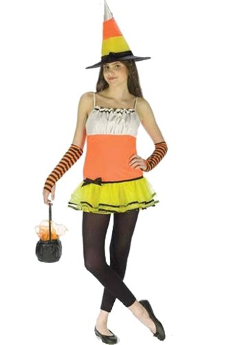 Teen Candy Corn Witch Costume - Juniors up to size 9 by Fun (Junior Witch Costumes)