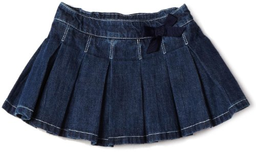 Hartstrings Baby Girls' Pleated Denim Skort, Denim, 12 Months