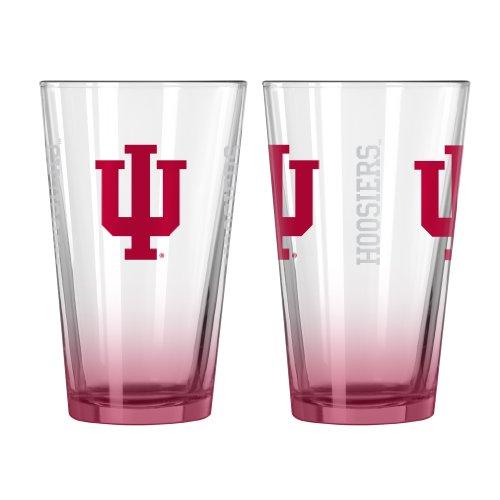 NCAA Indiana Hoosiers Elite Pint Glass, 16-ounce, 2-Pack