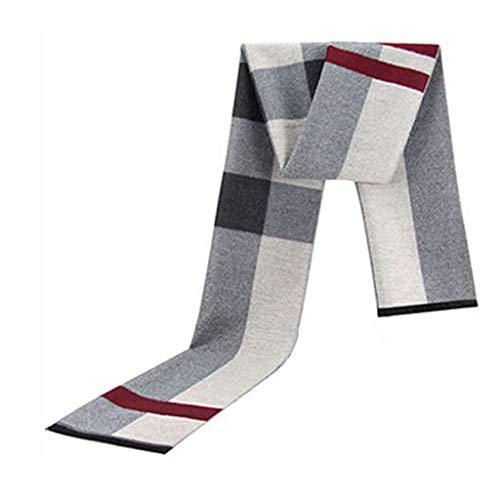 問題テレックスフォームスカーフメンズストライプウィンターウォームヤングファッションシンプル (色 : B)
