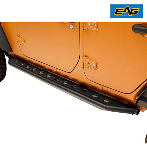 EAG Off-Road Tubular 3 Tube Rock Slider Fit for 18-19 Jeep Wrangler JL 4 Door