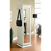 Coaster Home Furnishings Swivel Accent Cabinet with Cork Board White