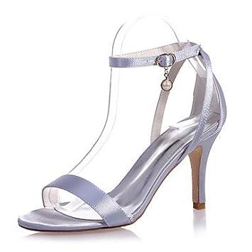Zapatos De Mujer Satin Stiletto Talón Open Toe Sandalias Boda/Parte &Amp; Noche Zapatos Más Colores Disponibles Jiax