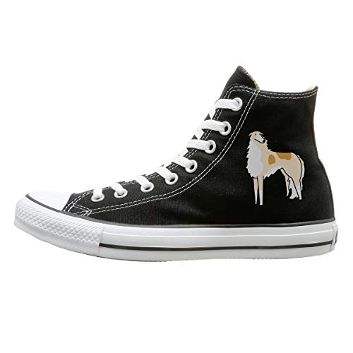 Aiguan Borzoi Canvas Shoes High Top Casual Black Sneakers Unisex Style 133