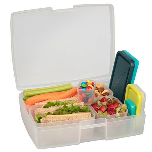 Bentology Leakproof Translucent Beach Bento Box Lunch Box wi