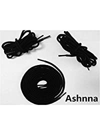 "Round Boot Laces, Heavy Duty and Durable Shoelaces for Boots, Work Boots and Hiking Shoes - [3 Pairs] 3/16"" Thick by Ashnna"