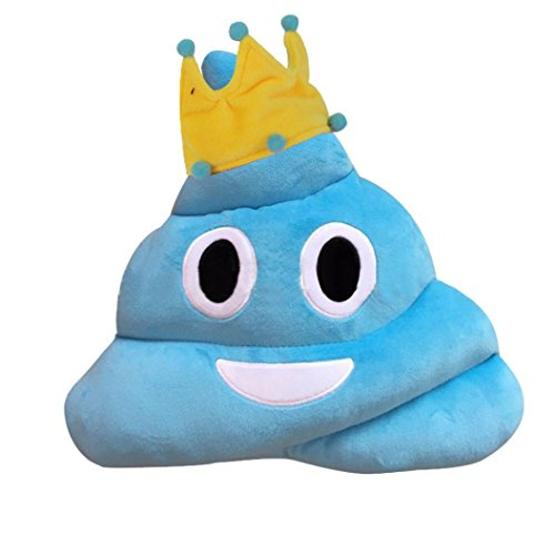 Emoji Poo Cushion - Blue