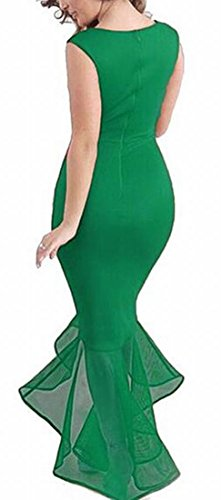 Jaycargogo Womens Sexy Moulante Sans Manches Robe Sirène Partie De La Queue De Poisson Vert