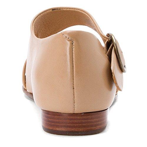 Rozenblaadjes Womens Fleet Flat Sandal Nieuwe Naakt Nieuwe Softy