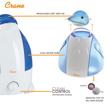 crane usa filterfree cool mist humidifiers for kids