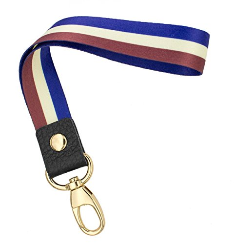 Wrist Strap Original (SENLLY Hand Wrist Lanyard Premium Quality Wristlet Strap with Metal Clasp and Genuine Leather, for Key Chain, Camera, Cell Mobile Phone, Charms, Lightweight Items etc)
