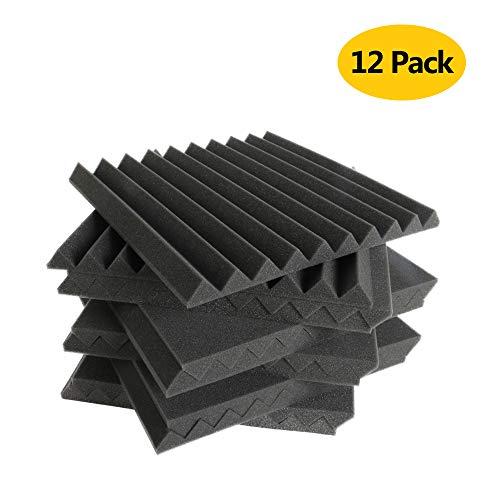 (12paquetes) -acoustic Foam paneles Reducción de absorción de amortiguación de sonido Azulejos, sonido Piano sala de...