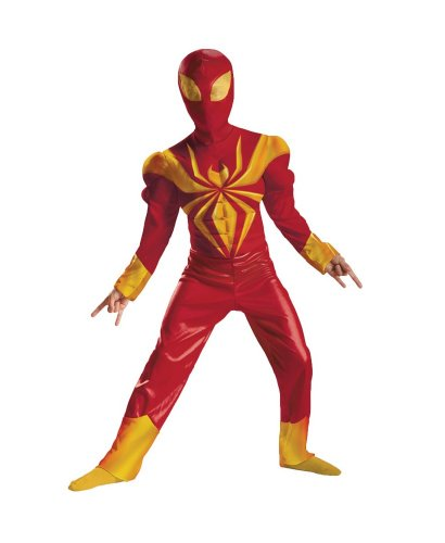 Ultimate Iron Spider Man Muscle Kids Costume - Medium