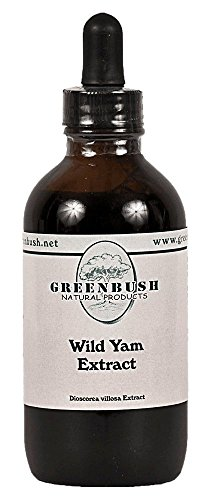 Wild Yam Concentrated Alcohol-Free Liquid Extract. Super Value Size 4oz Bottle (120ml) 240 Doses of 500mg. for Women's Reproductive Health, PMS, Cramps, Muscle Spasms, and Natural Breast Enhancement -