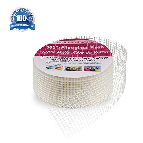Drywall Board - High Strength Self-Adhesive Fiberglass Cloth Mesh Tape Fabric Roll,Uwecan Board Seam Tape for Drywall Repair - 4.3