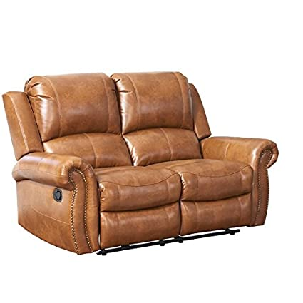 Remarkable Amazon Com Abbyson Winston Leather Reclining Loveseat In Unemploymentrelief Wooden Chair Designs For Living Room Unemploymentrelieforg