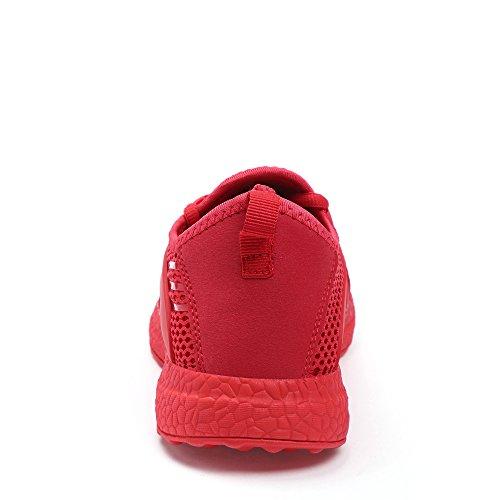 Feetmat Mens Mesh Chaussures De Course Respirant Léger Chaussures De Marche Sneakers Rouge