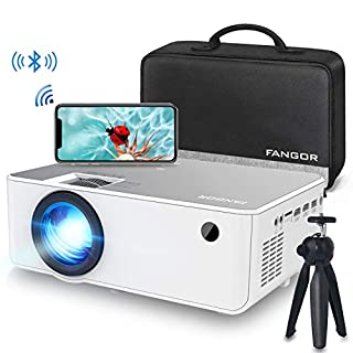 """1080P HD Projector, WiFi Projector Bluetooth Projector, Fangor 5500 Lumen 230"""" Portable Movie Projector, Compatible with TV Stick, HDMI, VGA, USB, Laptop, iPhone Android for PowerPoint Presentation"""