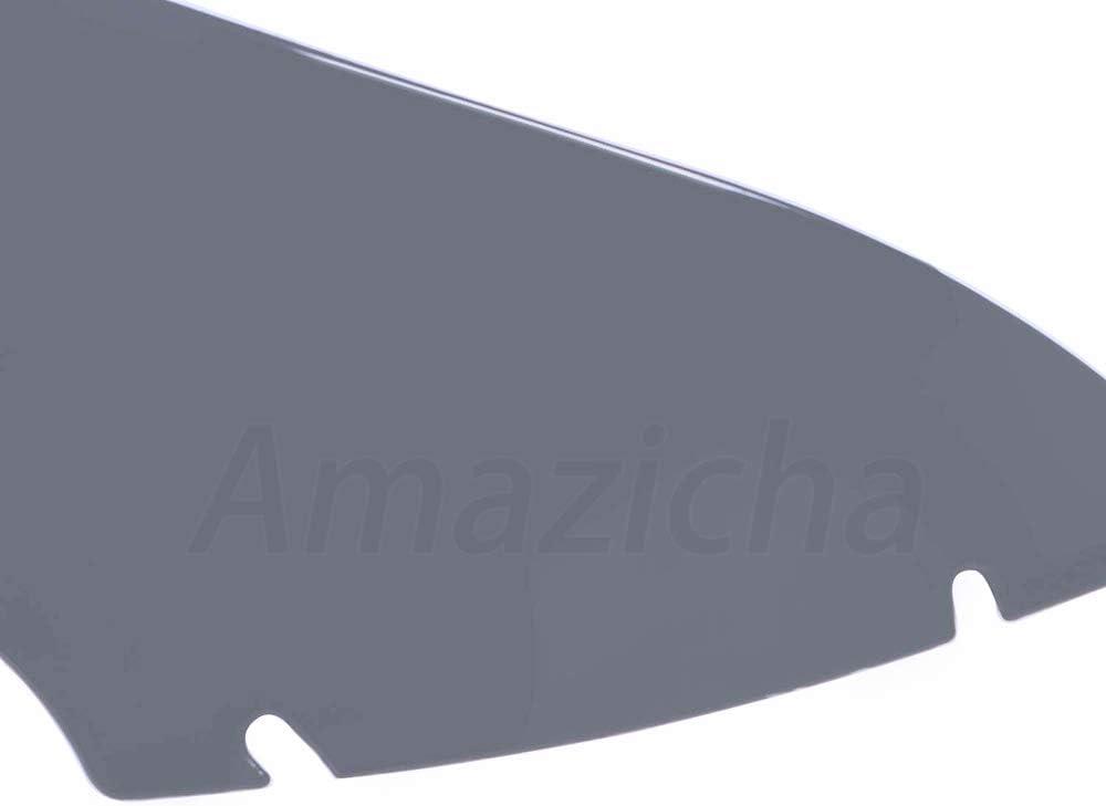 Amazicha 5 Inch Smoke Wave Windshield Windscreen Wind Splitter Wind Deflector Compatible for Harley Davidson Touring Road Glide 2015-2020