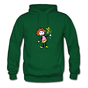 X-large Women Girl The Scribble Kids Collection 24 Lightweight Personalized Green Cotton Hoodies