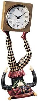 Design Toscano NG33744 Juggling Time Harlequin Jester Sculptural Clock,full color