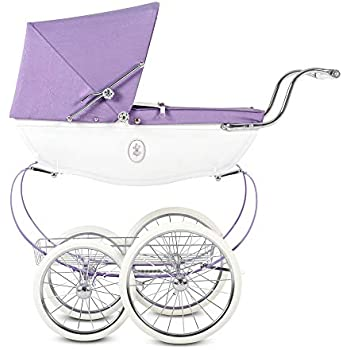 Silver Cross Dolls Pram - Baby Toy Stroller - Handmade in England (Fairy Purple)