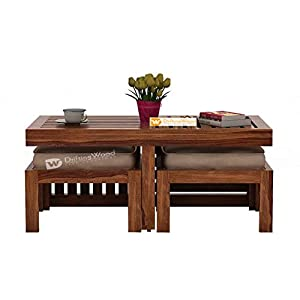 Best Wood Farrow Coffee Table With Stool India 2021