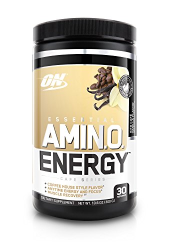 Optimum Nutrition Amino Energy, Iced Vanilla Latte, Preworkout and Essential Amino Acids with Green Tea and Green Coffee Extract, 30 Servings