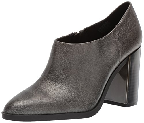 Medium Grey Leather (Nine West Women's Wanikiy Leather Ankle Boot, Dark Grey Leather, 9.5 Medium US)