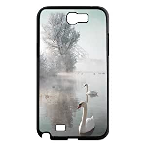 Chaap And High Quality Phone Case For Samsung Galaxy Note 2 Case -Swan Ballet Dancing Pattern-LiShuangD Store Case 17