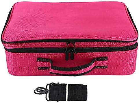 化粧品オーガナイザー、3層のバッグをアップグレード化粧品オーガナイザービューティーアーティストメイクアップケースショルダーストラッププロのメイクアップバッグビューティーアクセサリー(黒)