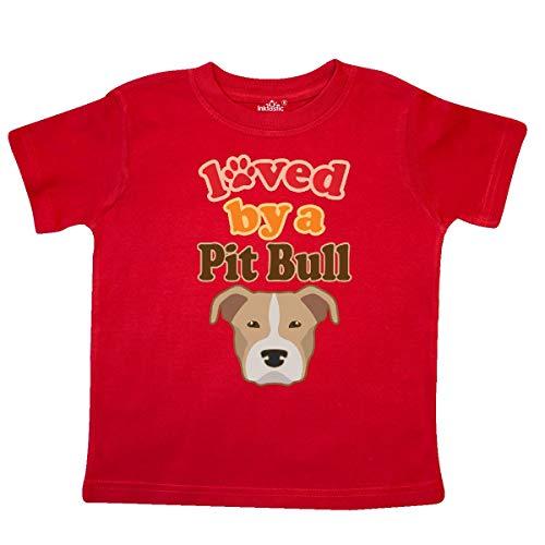 inktastic Pit Bull Terrier Dog Lover Toddler T-Shirt 5/6T Red
