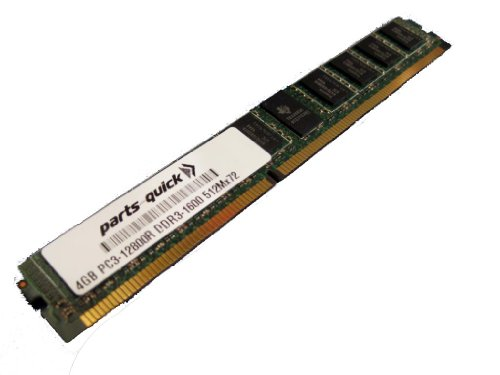 4GB DDR3 ECC PC3-12800 1600MHz 240 pin Registered VLP DIMM Memory Upgrade RAM (PARTS-QUICK -