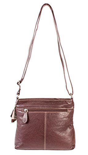 Oxbridge Satchel Shop, Borsa a zainetto donna marrone small