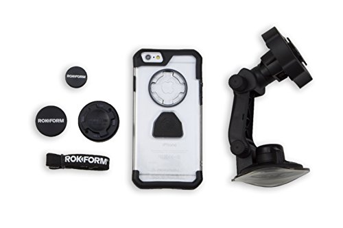 iPhone 6 Car Mount Kit by Rokform, Includes Windshield Phone Holder, Magnetic Phone Mount, and Mountable Protective Case - Amazon Exclusive by Rokform