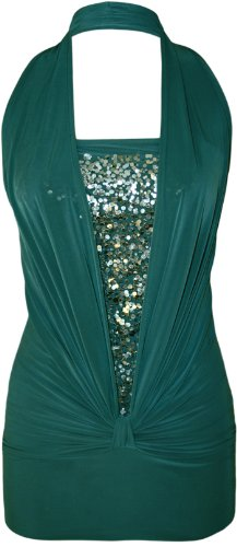 verde Donna Top WearAll WearAll Top petrolio wOqRg7C
