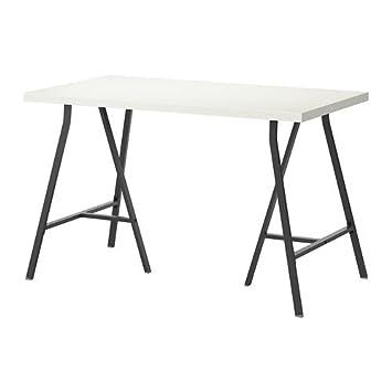 white table top ikea. Ikea White Computer Desk 47x24 Inch Linnmon Table Top And 2 Lerberg Dark Gray Legs