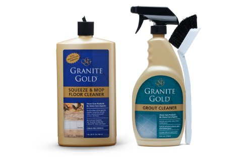 Granite Gold Squeeze And Mop Floor Cleaner - No-Rinse Deep Cleaning Granite, Marble, Travertine, Ceramic Solution