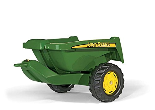 John Deere Dumping Trailer (rolly toys John Deere Tipper Trailer with Rear Tipping for Pedal Tractor, Youth Ages 3+)