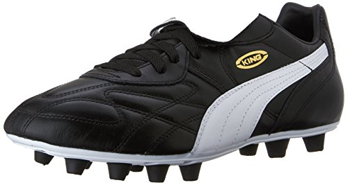 Puma Men's King Top DI FG Soccer Shoe,Black/White/Team Gold,10.5 D(M) US